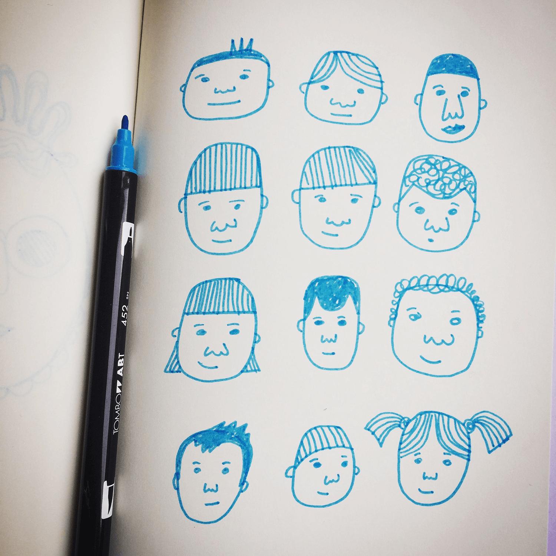Little Blue faces