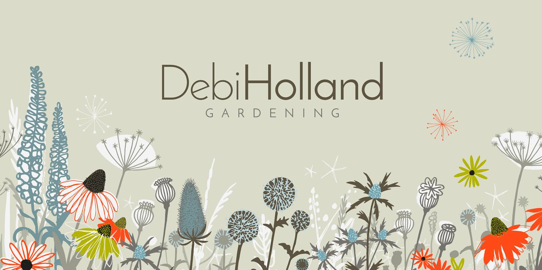 DEBI HOLLAND GARDENING | Illustrative Identity for a North Somerset gardening business