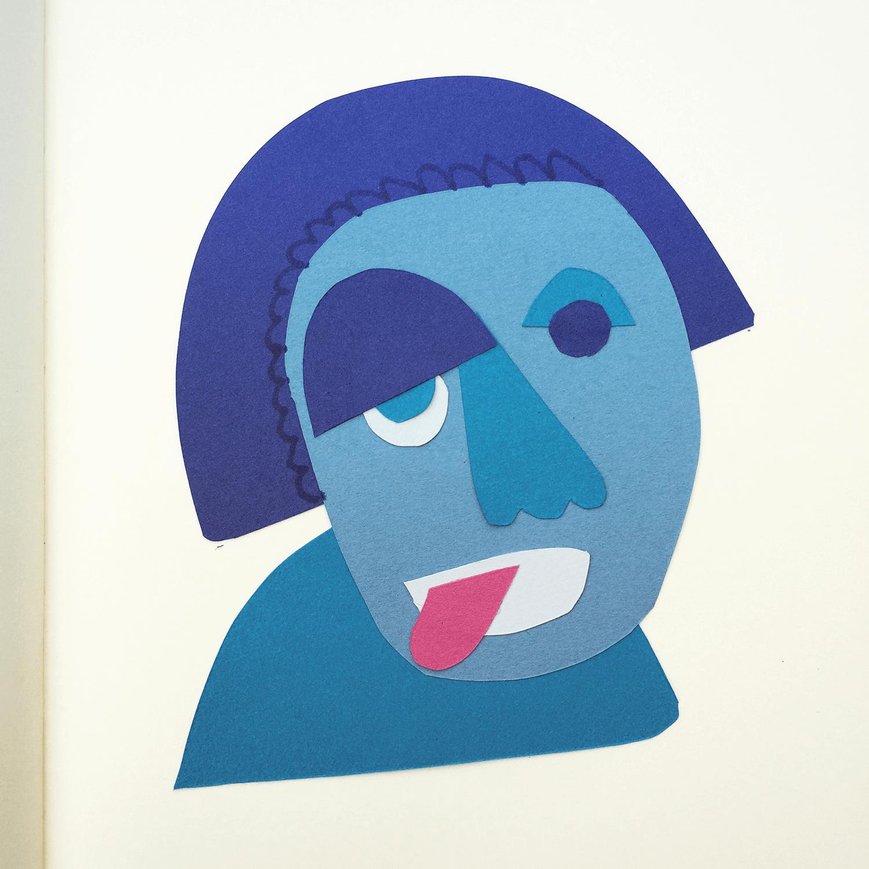 Cut paper face no.2
