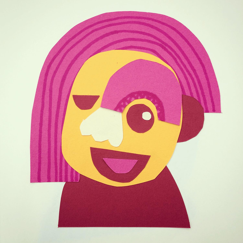 Cut paper face no.1