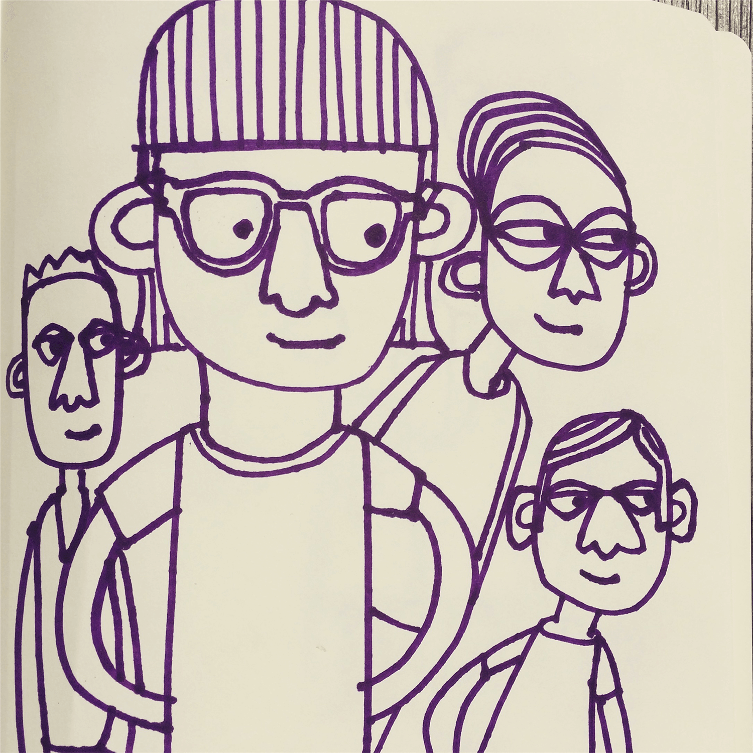 People doodle