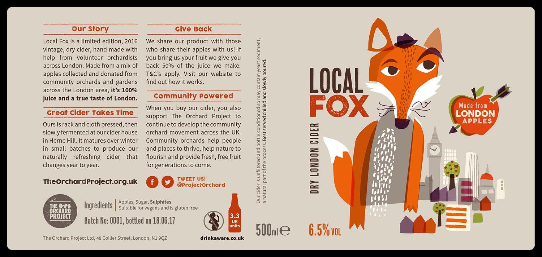 Local Fox Cider Label