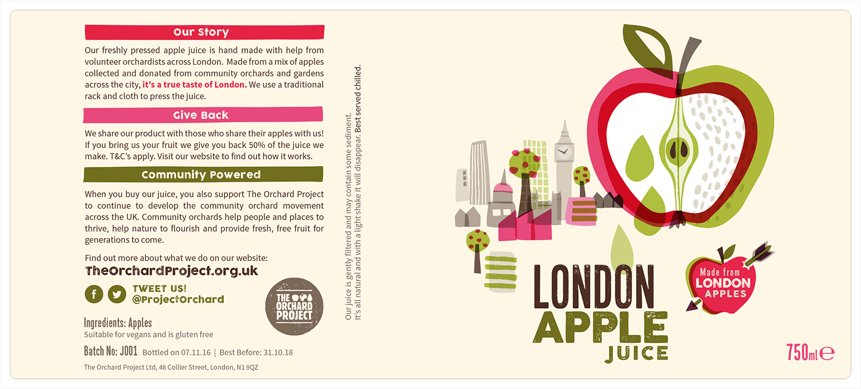 London Apple Juice Label 750ml