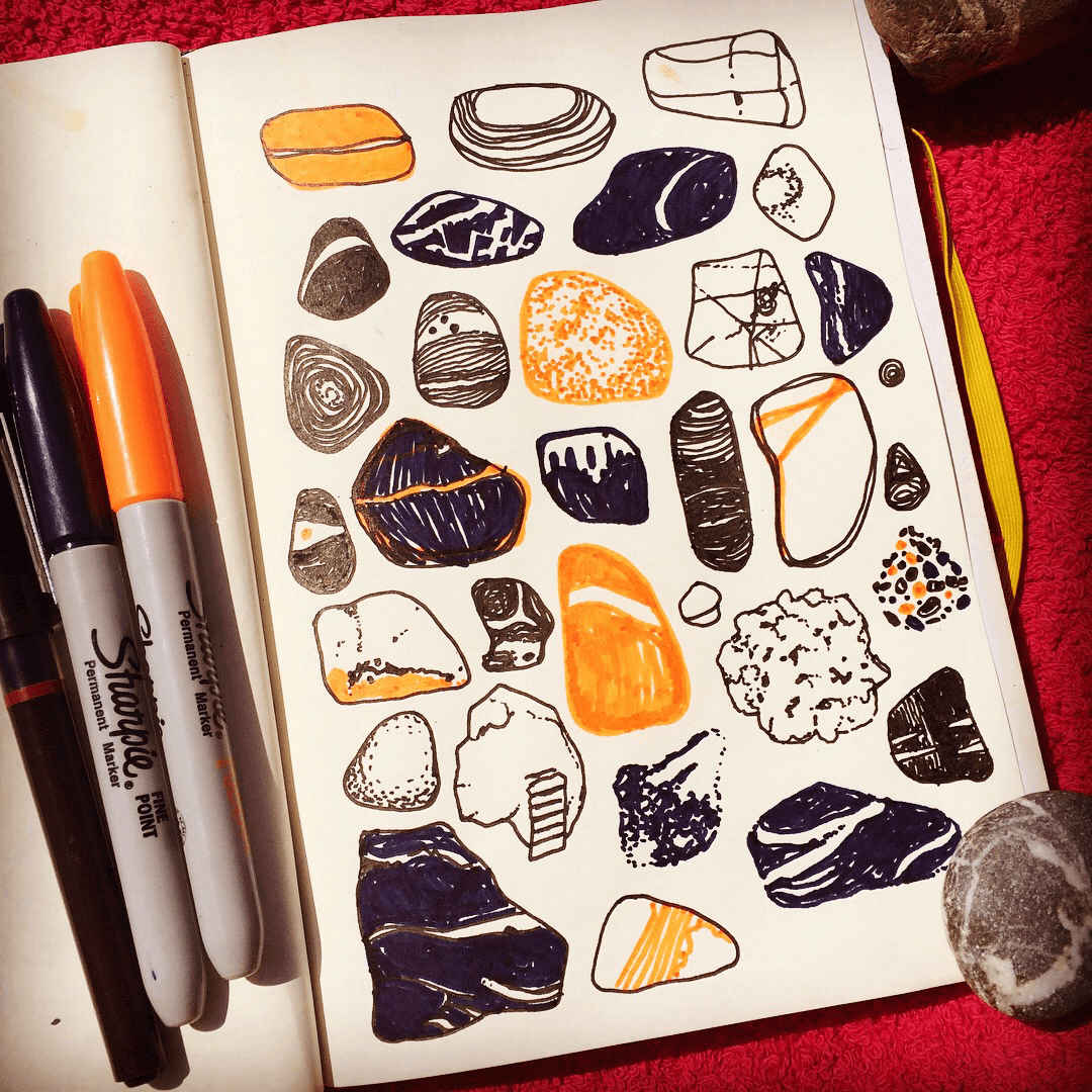 Holiday Sketchbook - Pebbles