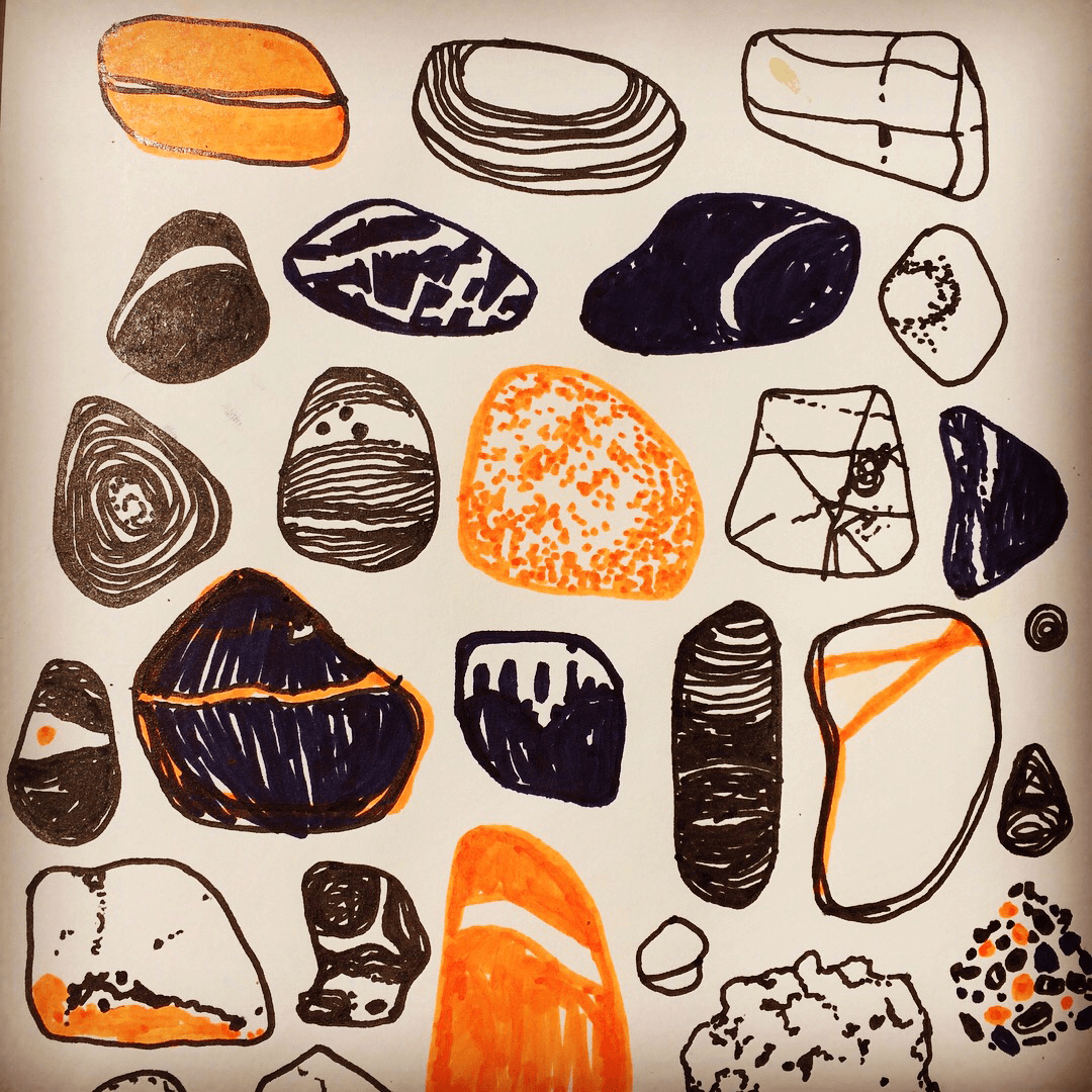 Holiday Sketchbook - Pebbles Close Up