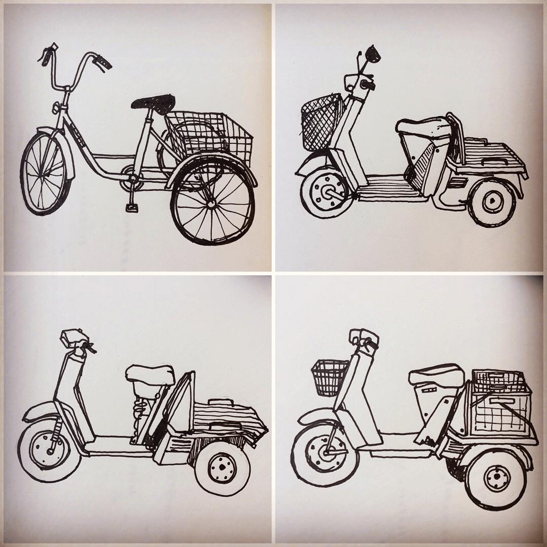 Holiday Sketchbook - 3 wheelers