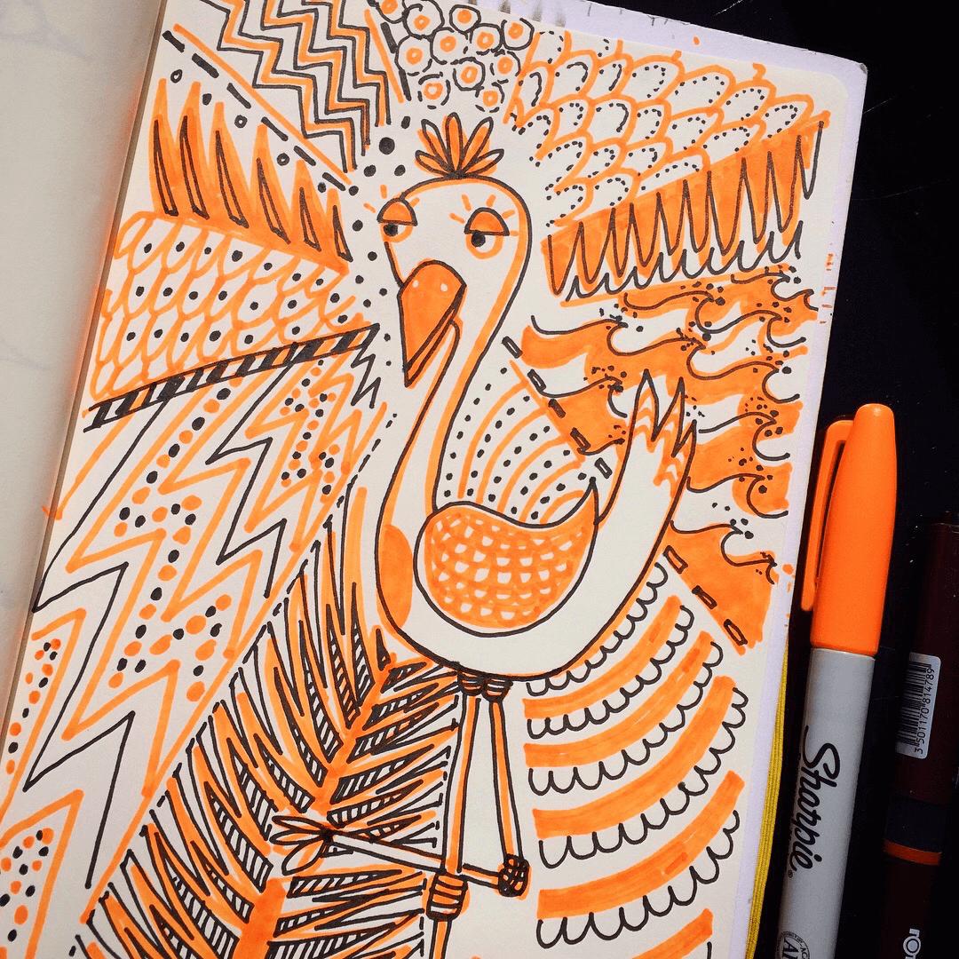 orange bird ©carys-ink.png