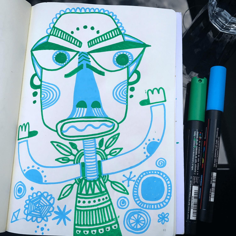 Posca Dude ©carys-ink