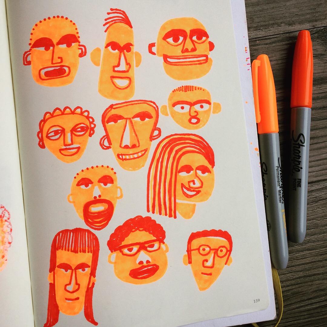 Sharpie Faces 02