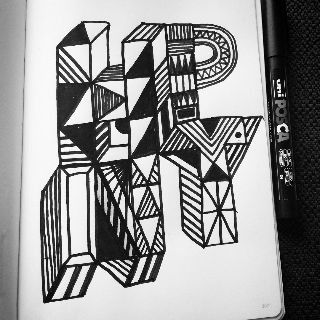 HPNY_BlackandWhite_Doodle