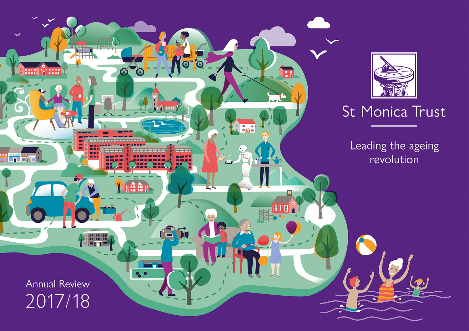 ST MONICA TRUST | The Ageing Revolution, annual report cover illustration