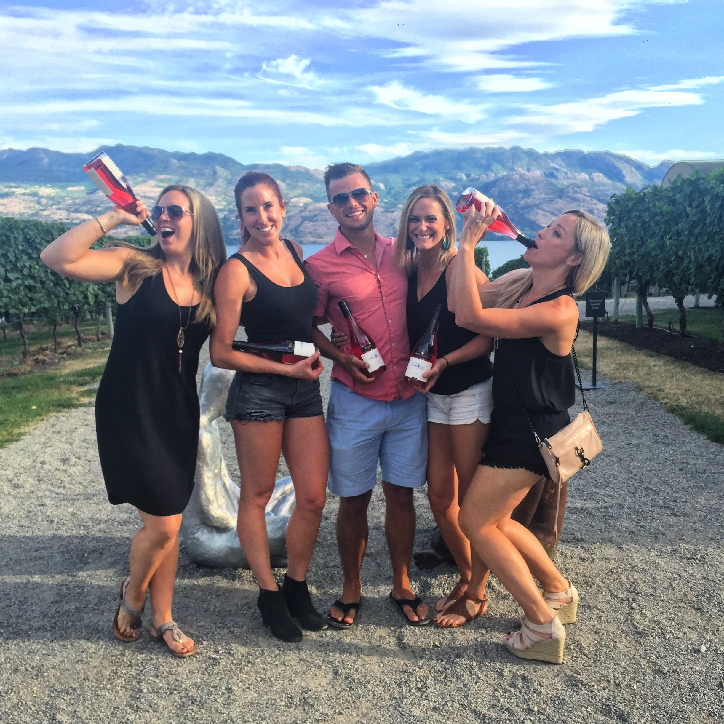 Mission Hill is one of the largest and most picturesque wineries in the Kelowna area. Here is Quinn touring around four lovely ladies who are in town all the way from LA!