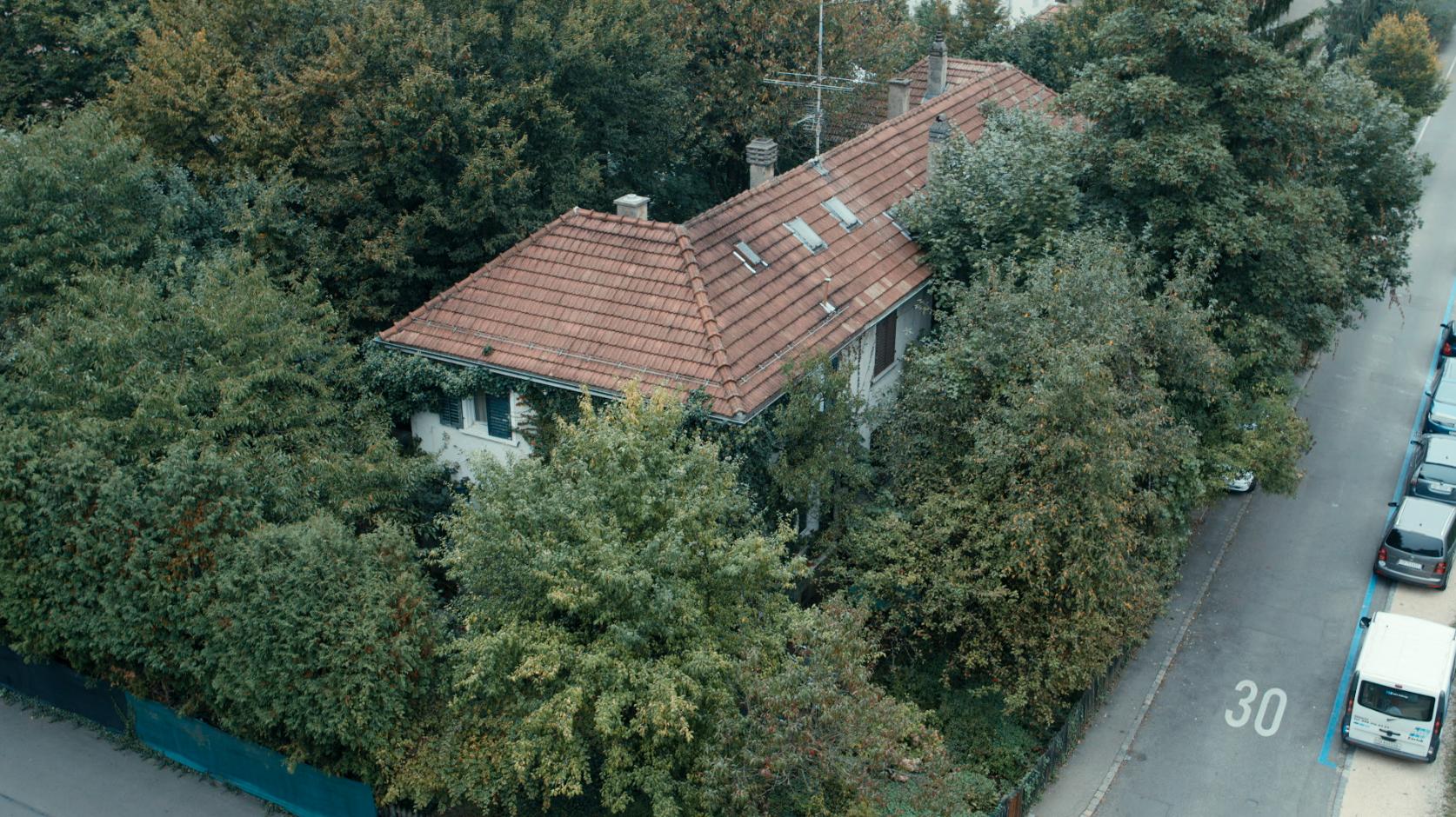 Die Giger-Häuser von oben