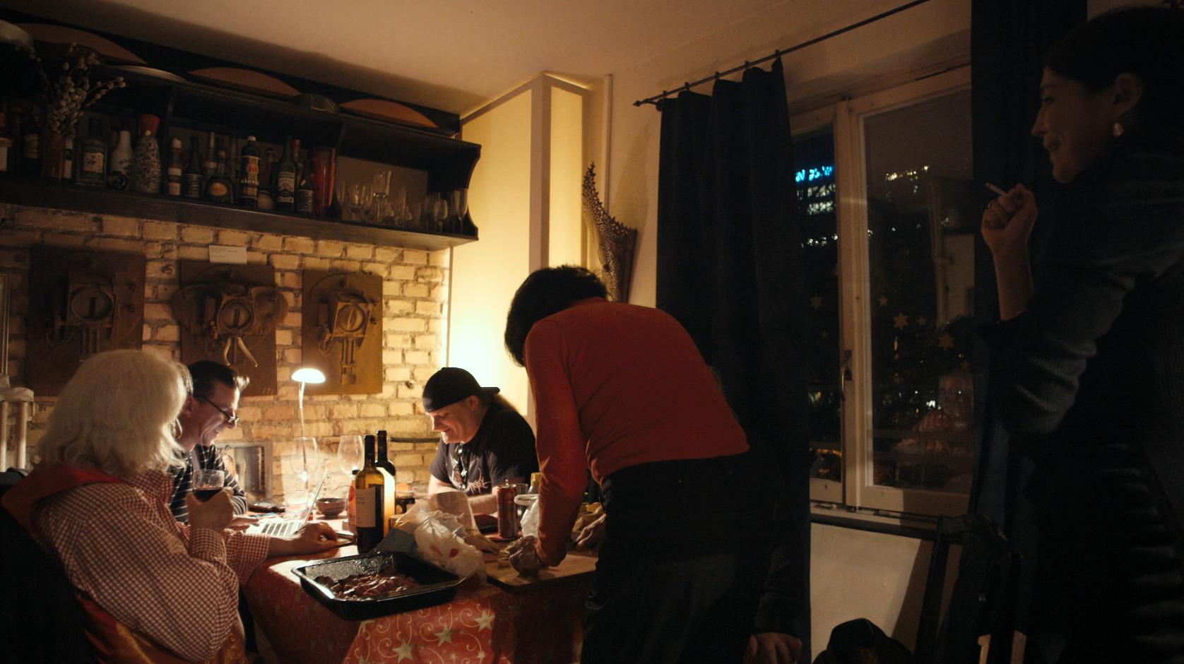 Die Küche in Haus Nr. 1
