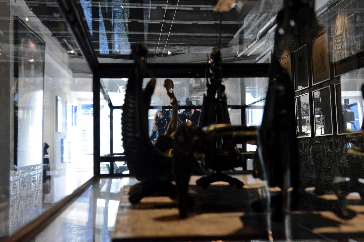 Dreh im Museum HR Giger