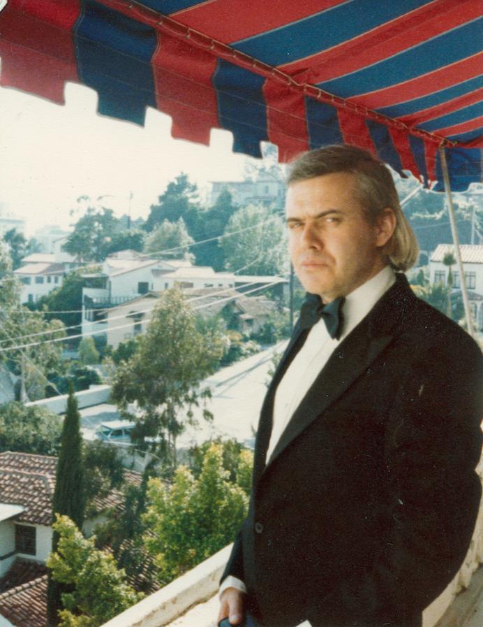HRG auf dem Balkon des Château Marmont in LA, kurz vor der Oscarverleihung