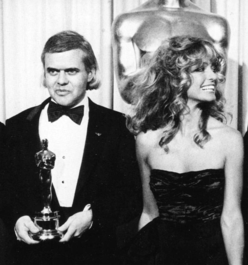HRG und Farah Fawcett bei der Oscarverleihung, 1980