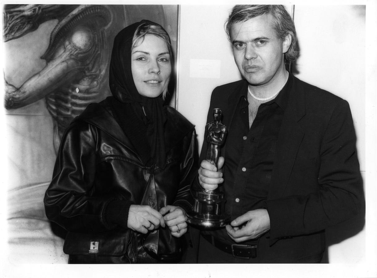 HRG und Debbie Harry nach der Oscarverleihung in der Hansen Gallerie in New York, 1980