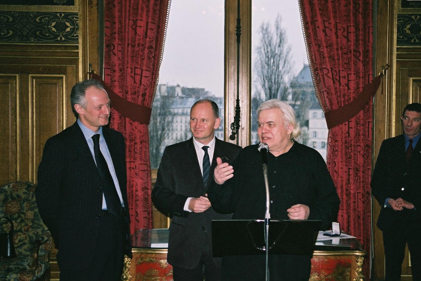 HRG bei der Verleihung der Ehrenmedaille von Paris, 2004