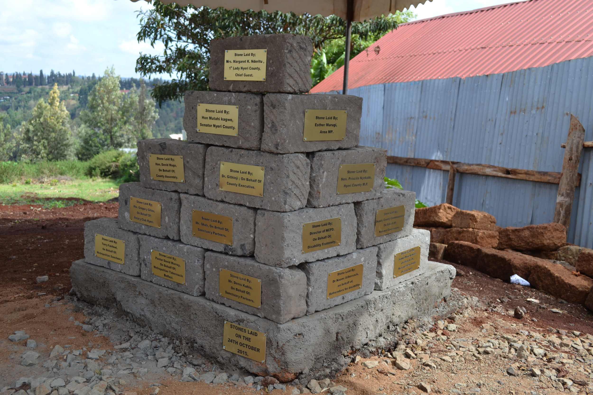 The foundation stones which will form part of the new, upgraded facilities at The Metropolitan Sanctuary.