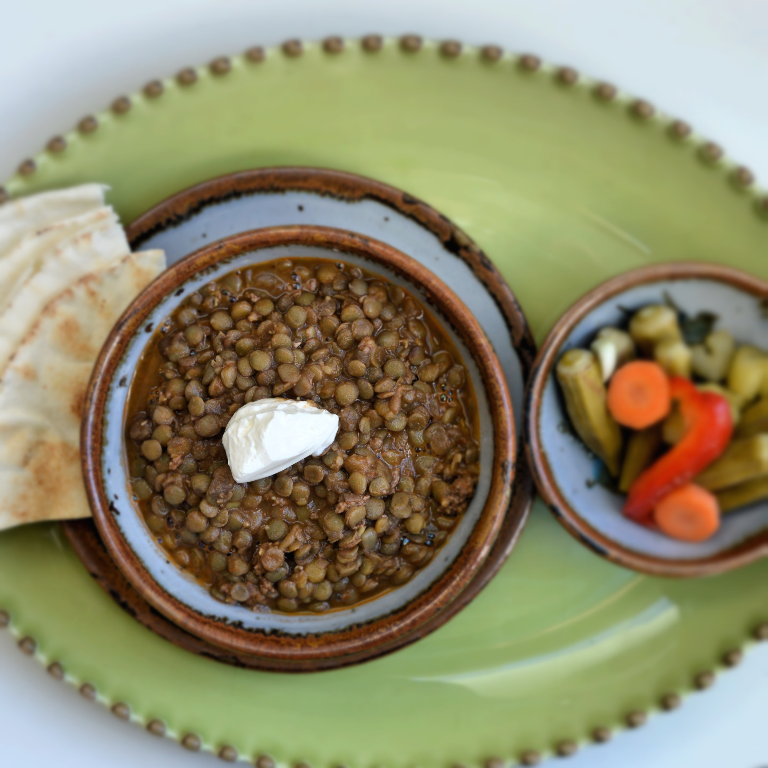 Lentil with ground beef