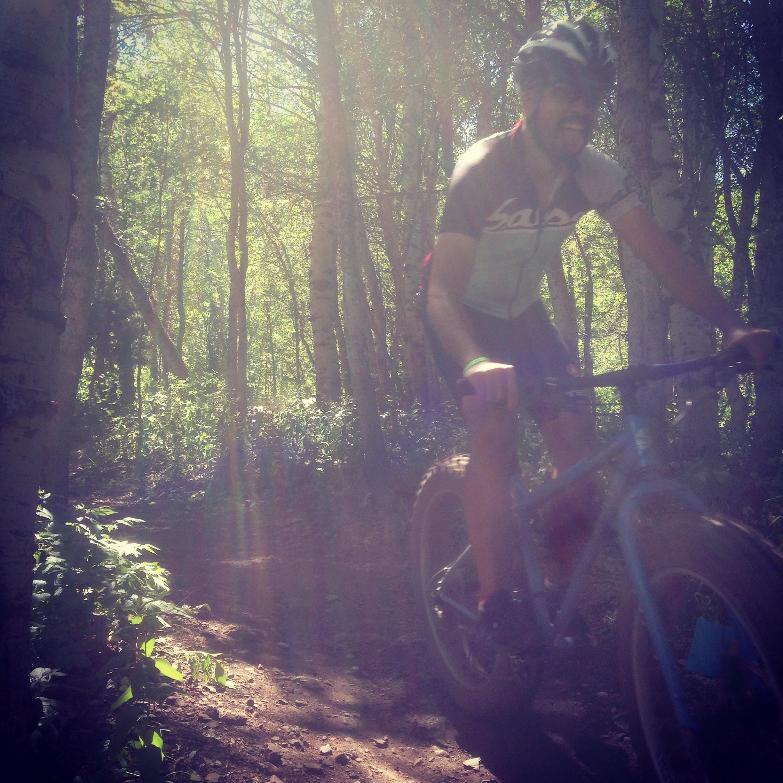 Coman hits the trails in Ogden Utah.