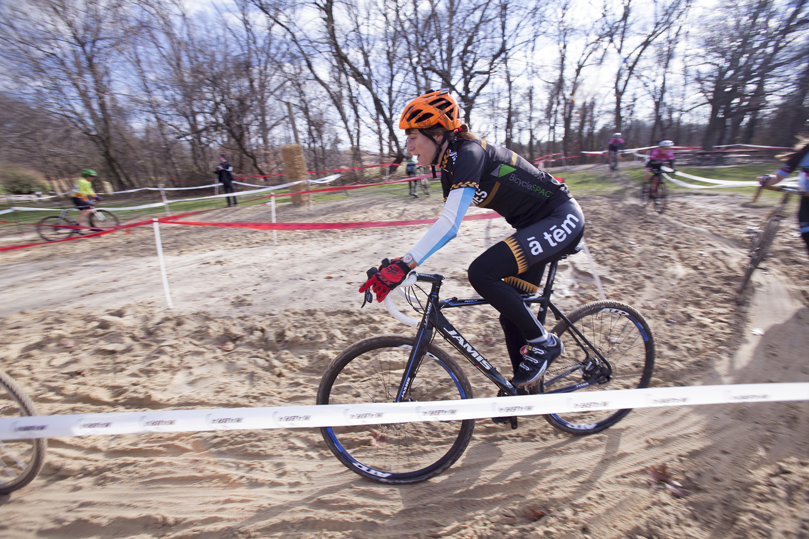 Ana tackles the sandpit in Occoquan Park at Bikeneticx.