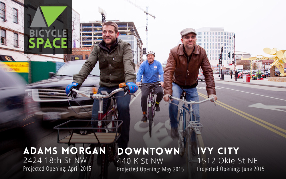 (Left to right)General Manager David Dorn and co-owners Phil Koopman and Erik Kugler are opening three new BicycleSPACE shops this year.