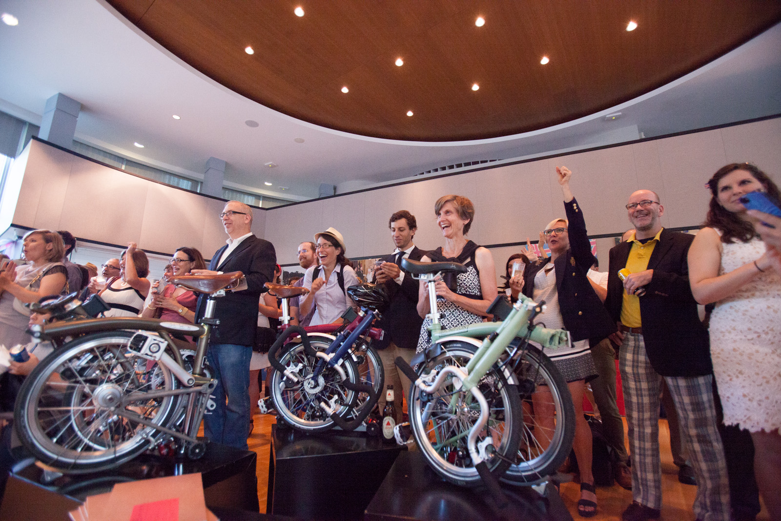 BicycleSPACE is the exclusive Washington-area dealer of the brilliant Brompton folding bicycle. U.S. Bromptoneers are seen here at aBritish Embassy reception during the  2014Brompton U.S. Championship.