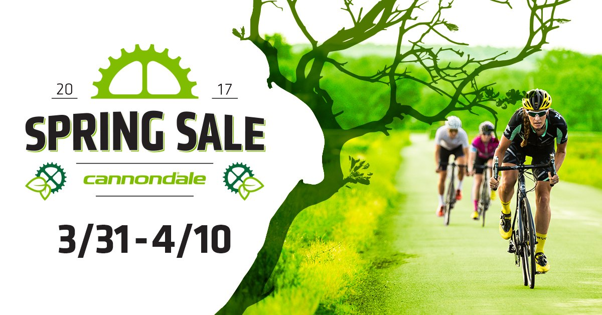 Special pricing on Cannondale's now through Arpil 10th!