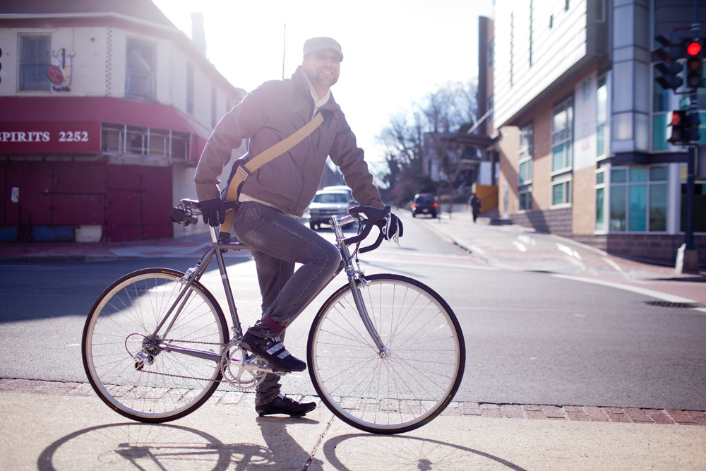 BicycleSPACE co-founder, Erik Kugler, on a steel Soma.