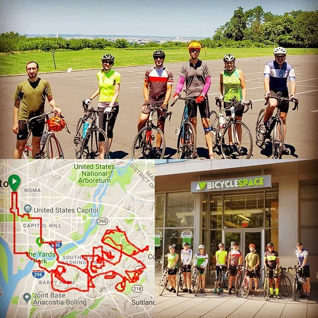 Just your friendly neighborhood #bicycleshop weekly Saturday #HillsOfAnacostia ride having some hilly fun! Rode 35 miles at 3,000 feet of we did it climbing! #bikedc #bspacerides #bicycleride #anacostia #eotr #eastoftheriver #hillsofsedc #hillsride #hillseotrdc #washingtondc #dcproud #dcbike #dcbikeride #dcbikelife