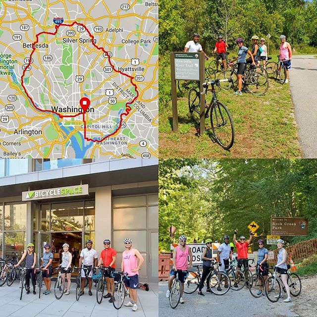 Big #SundayFunDay on our #CityExplorers ride today as we rode a big 35 mile loop around #WashingtonDC. It was a pretty simple ride as all we did was follow the red line on the map in a counter clockwise direction! #bikedc #bikemd #bspacerides #bikedcloop #dcloop #dcbike #dcbikeride #bicycleride #bicycleshop #cyclingpictures #igbicycle