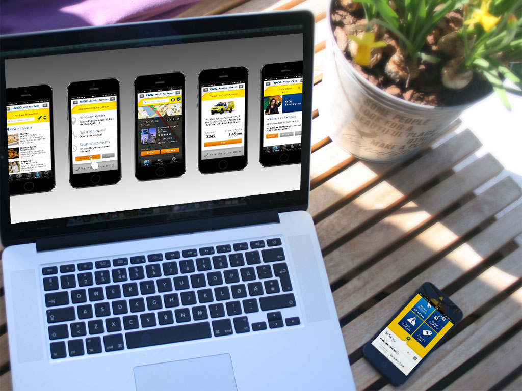 RACQ mobile app (iPhone / android)