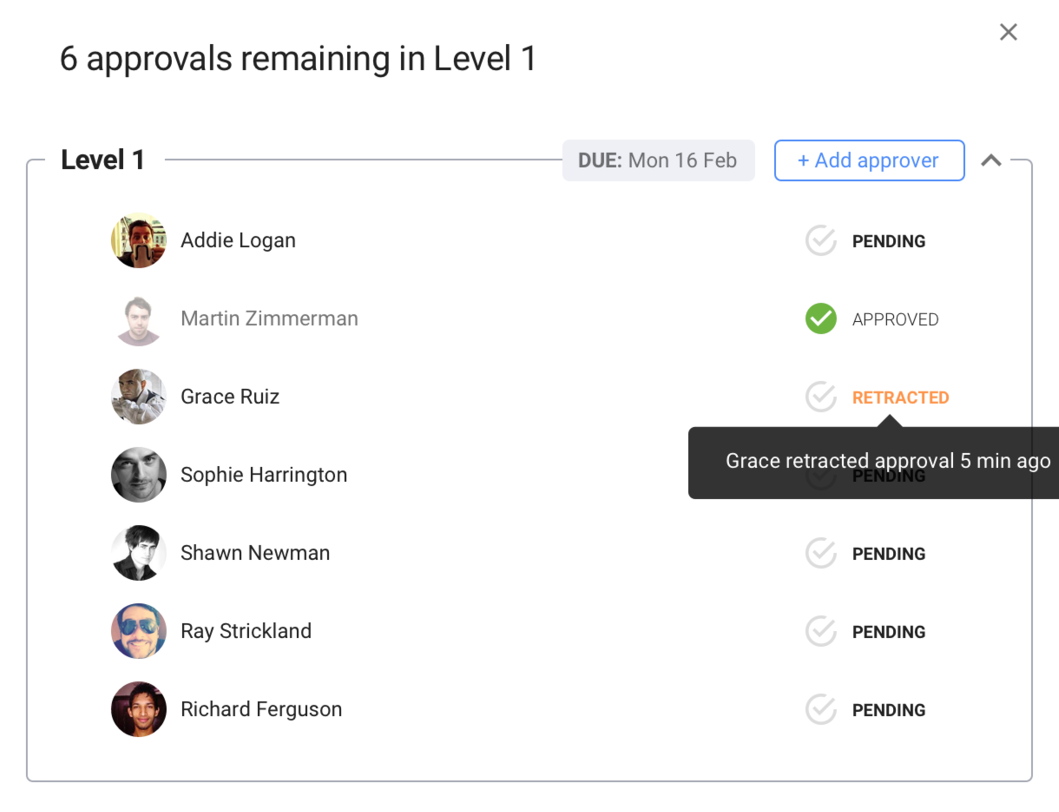 Structured approval UX flow - Setting up a multi-tiered workflow, Including design notes for developers