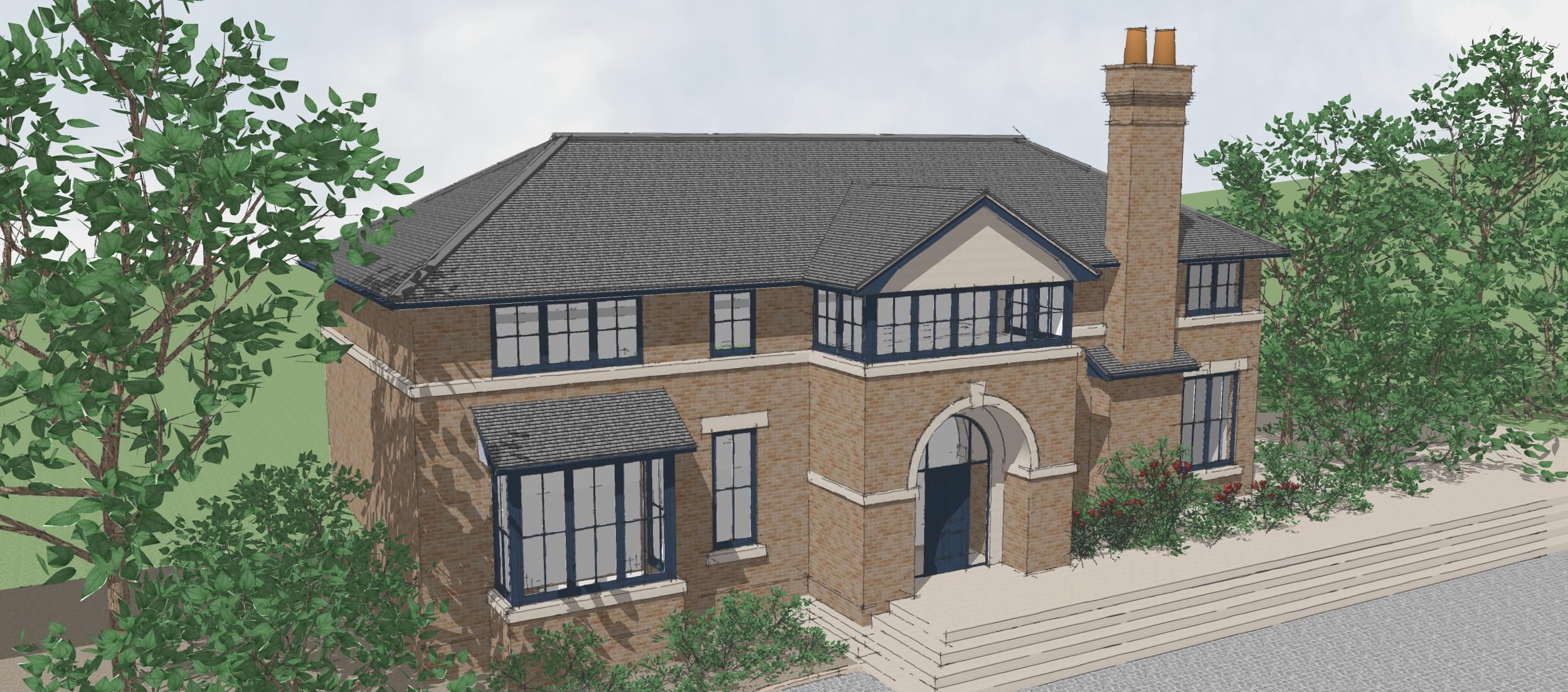 New house, Sevenoaks, Kent