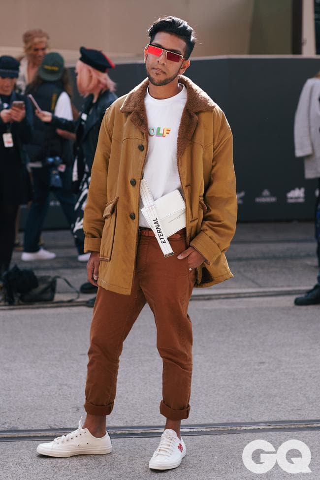 Wearing Adam Selman for Le Specs, Golf Wang, Cos, Commes Des Garcon Play x Converse  Shot by GQ for Mercedes Benz Fashion Week Australia