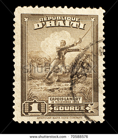 stock-photo-haiti-old-stamp-with-the-haitian-rebel-slave-capois-la-mort-during-the-battle-of-vertieres-70588576.jpg