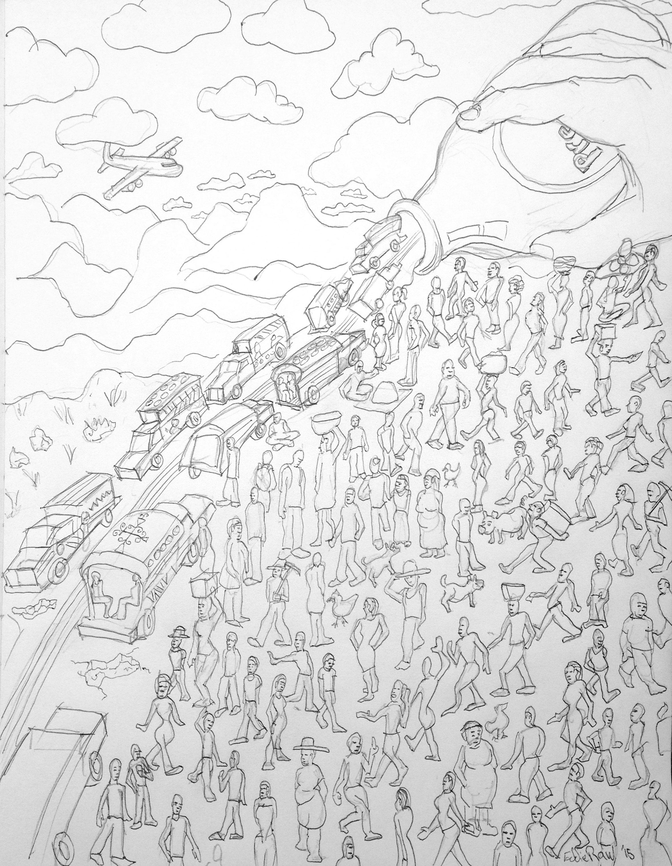 Drawing by Edward Rawson