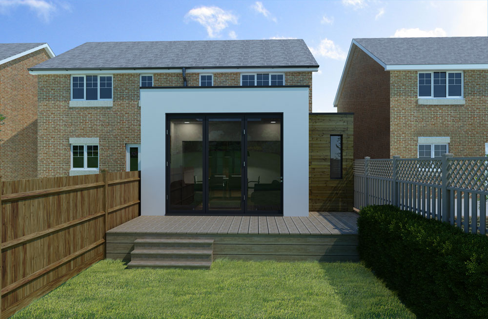 contemporary rear home extension