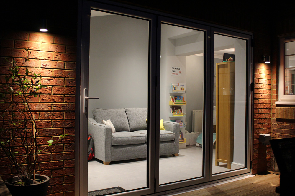 bi fold door extension