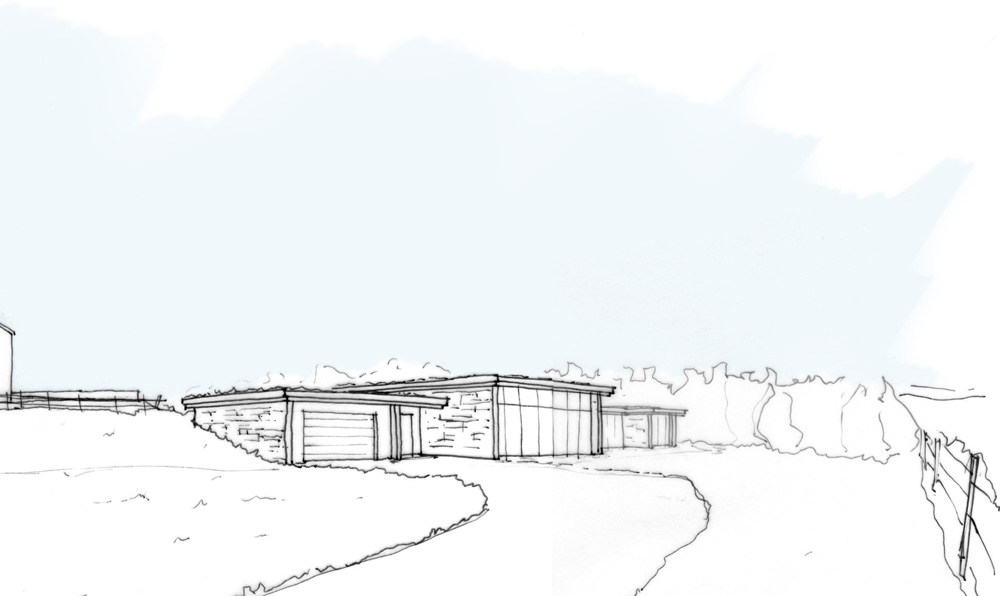 contemporary house sketch