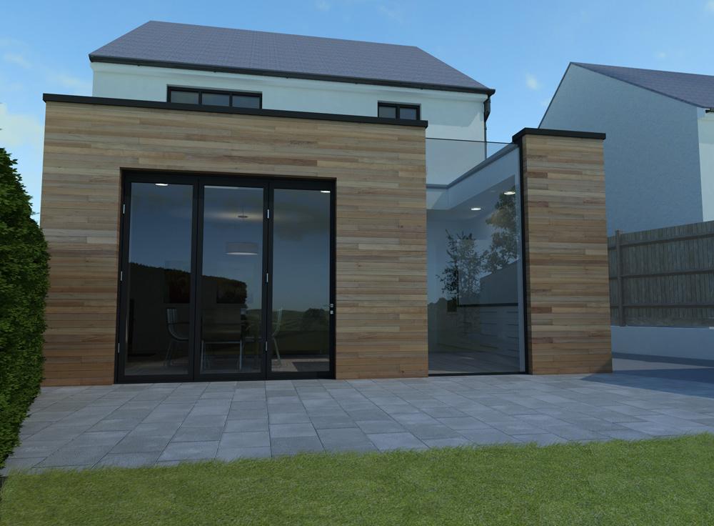 single storey house extension..