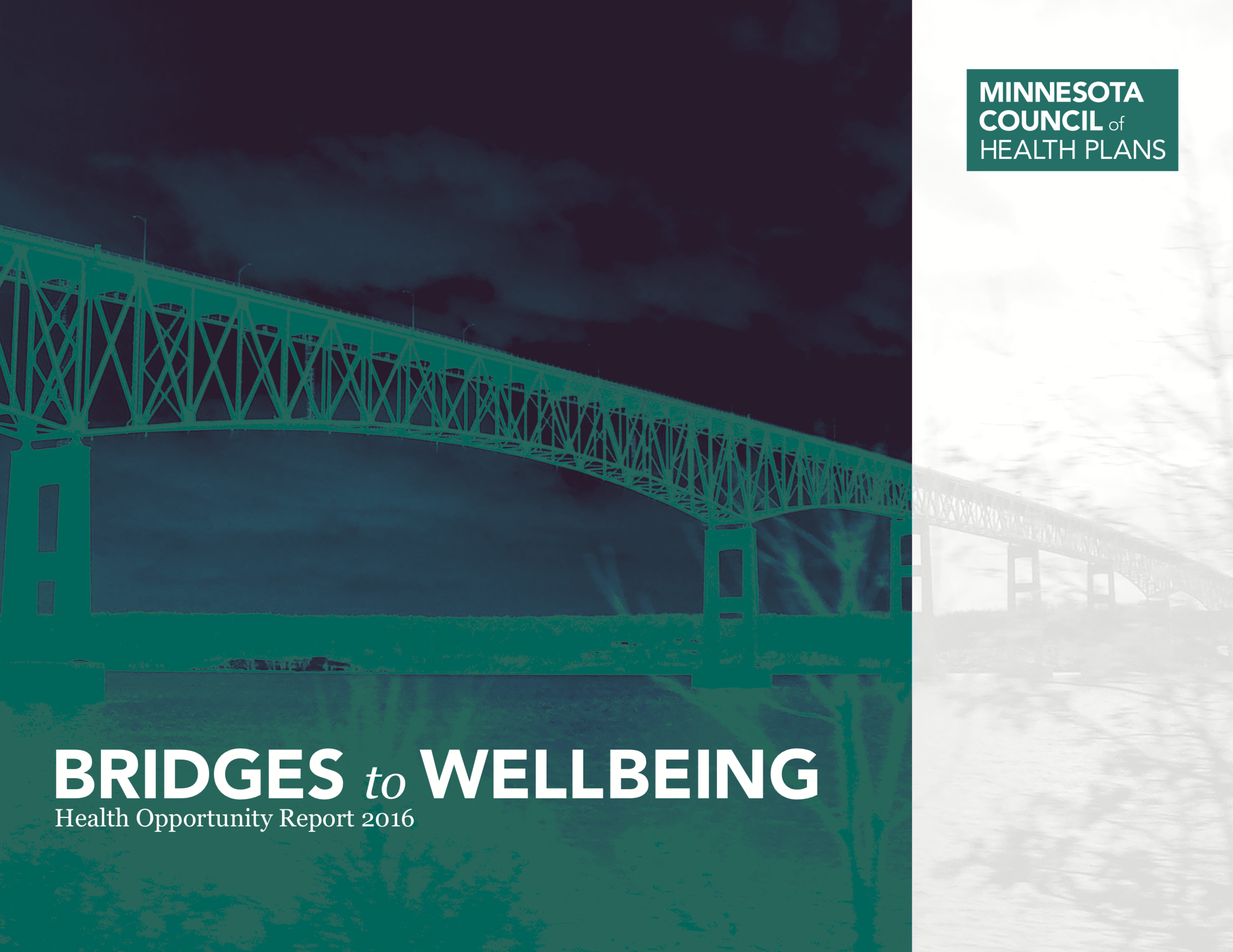 Minnesota Council of Health Plans ,  Bridges to Wellbeing: Health Opportunity Report 2016  ( PDF )
