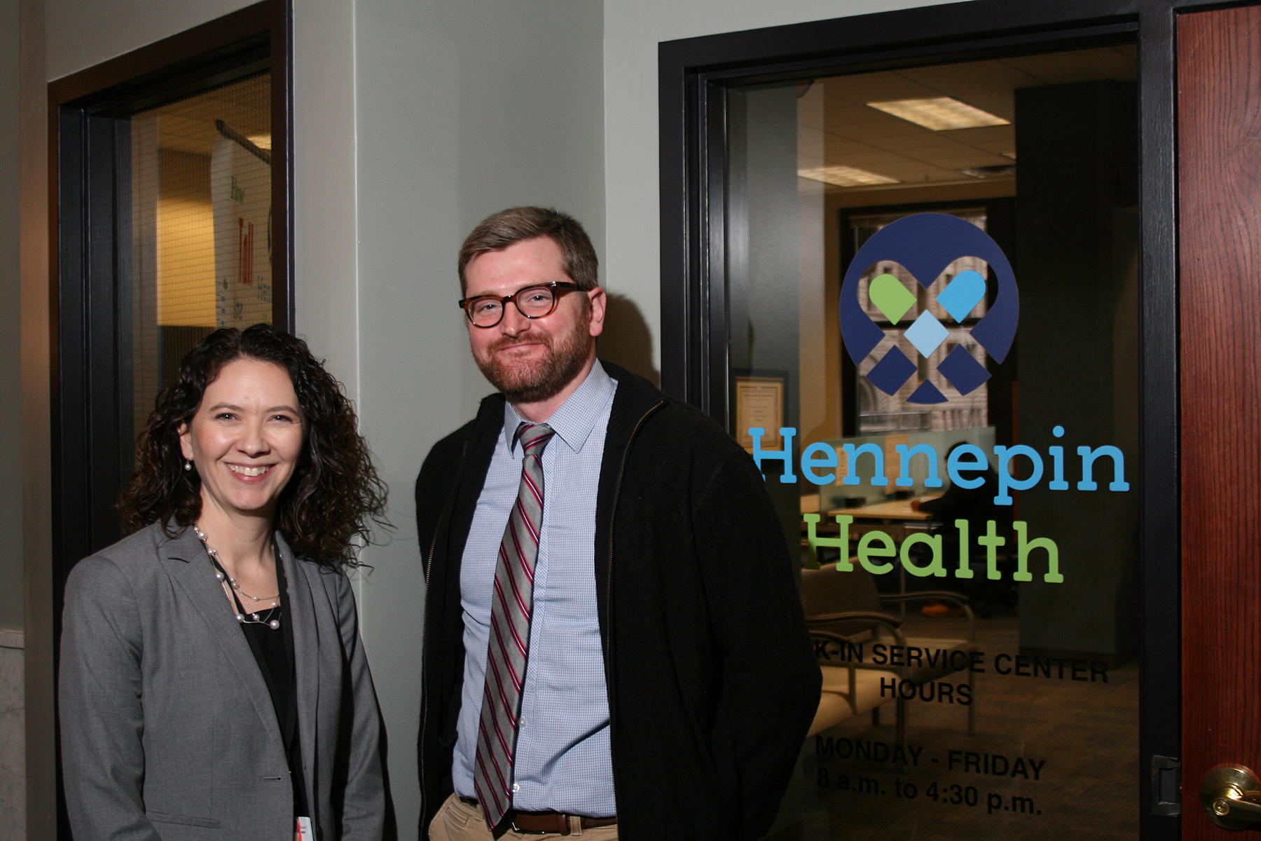 Amy Harris-Overby , director of HCMC's population health program, and  Ross Owen , health strategy director for Hennepin County