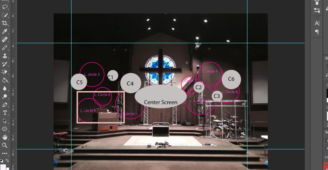 Glowing Circles / Projected Circles  — Calvary Church