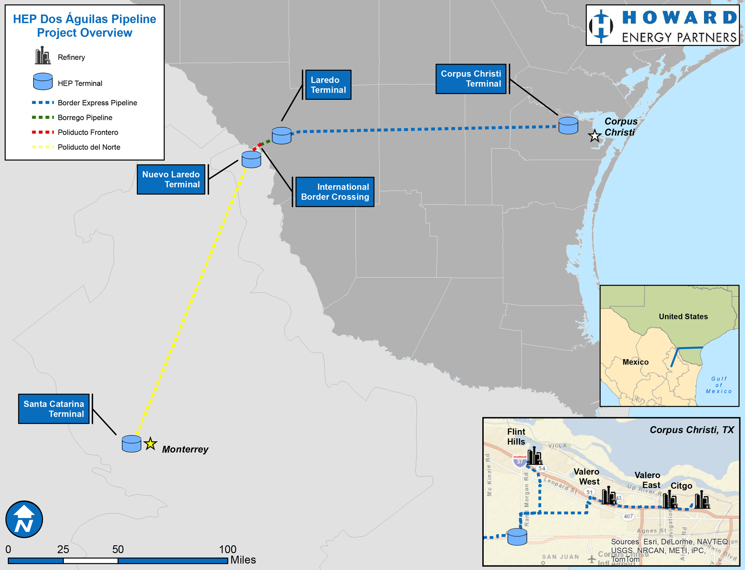Dos Águilas Pipeline Map, credit www.http://www.dosaguilaspipeline.com/