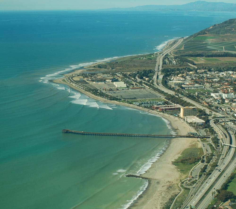 Ariel view of Ventura, California