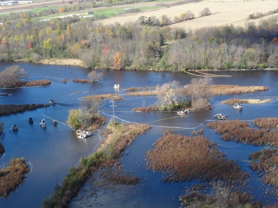 2010 Kalamazoo River Oil Spill via www.michigan.gov