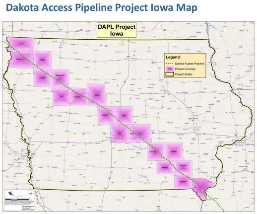 Iowa portion of Dakota Access pipeline ( DAPLPipelineFacts )